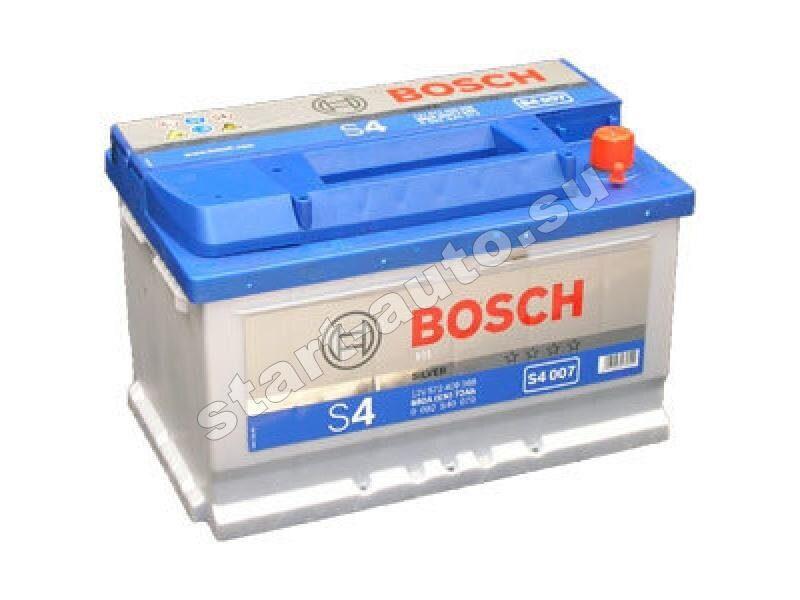 Автомасла и жидкости. Автомобильный аккумулятор BOSCH 6СТ-72 Н Евро (S4007